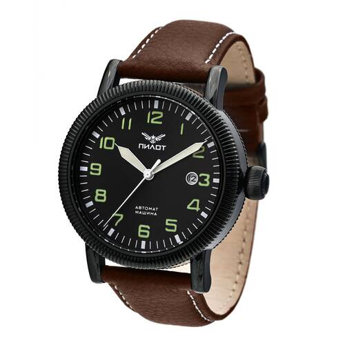 Pilot Fighter WW2 Retro 1 11/16in Automatic Military Watch 8215 Mechanical
