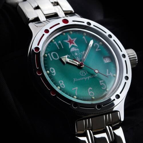Vostok Komandirskie Diving 656 2/12ft Automatic 2416/420307 Military Russian