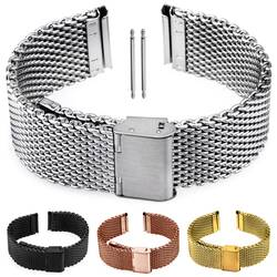Milanaise Bracelet Watch Stainless Steel Silver Black...