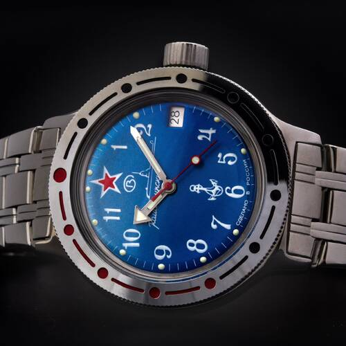 Vostok Komandirskie Diver Watch 656 2/12ft Automatic 2416B/420289 Russian Watch