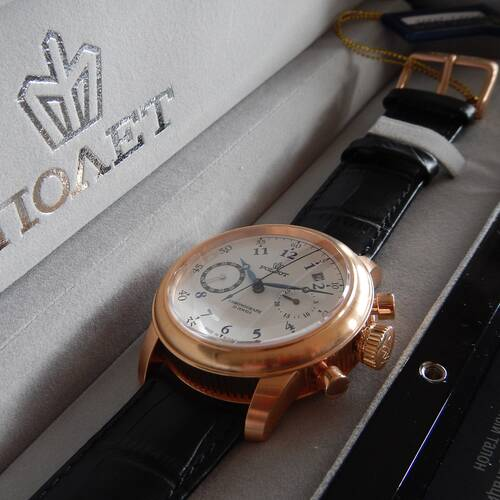 Poljot Chronograph 3133/2729395 Watch - Letzte Luxury Collection Hand Wound