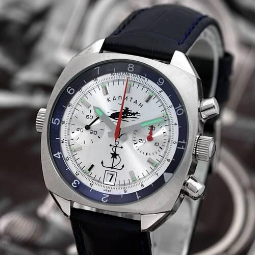 PILOT KAPITAN Poljot Chronograph 3133 russische mechanische