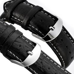 Leather Band 0 7/8in Watchband - Fine Grain Smooth...