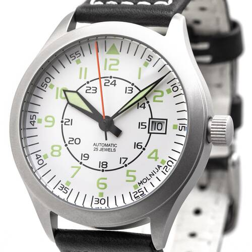 Aviation Aviator Watch Automatic White Analog Military Watch Russia Tmp 2824
