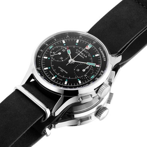 Strela Chronograph Hand Wound Sea-Gull ST1901 Cosmos Officer Civil Tribute 40mm