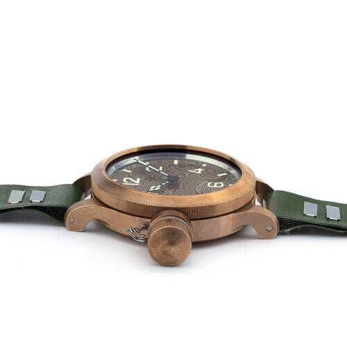 Agat 292 Chb Bronze Mokume Kampftaucheruhr Russian Analog Watch Sapphire Glass