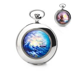 Pocket Watch Molnija 3602 Handpainted Unique Ship...