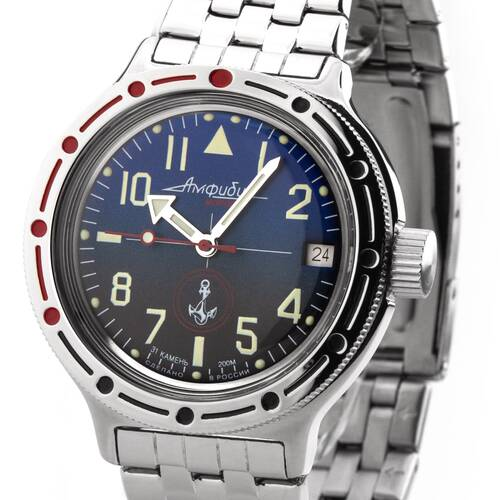 Vostok Automatic Diver Watch Diver Military 2416/420957 Mechanical 20 Atm