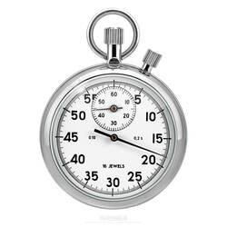 Stopwatch Mechanical Timekeeper - White - 1/5 Sec. ,30...