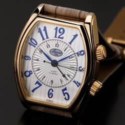 Wrist Watch Alarm Clock Poljot Analog Tonneau Golden...