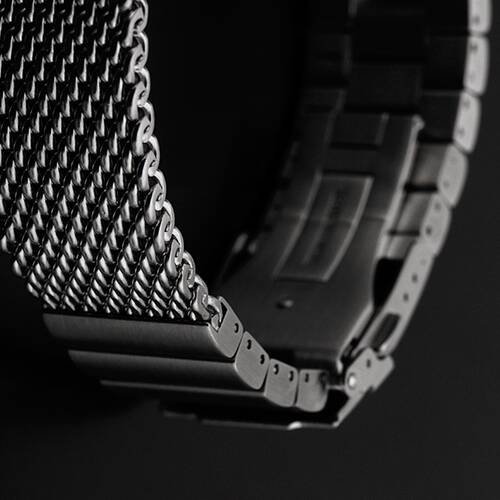 24 · Milanaise Wrist Watch Band Matte Brushed Mesh Extra Solid Stainless Steel