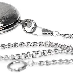 Pocket Watch Chain Silver Carabiner And Spring Ring New