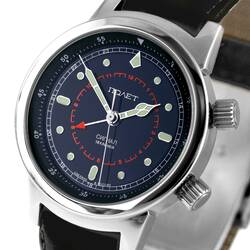 Wrist Watch Mechanical Alarm Clock Aviator Poljot 2612...