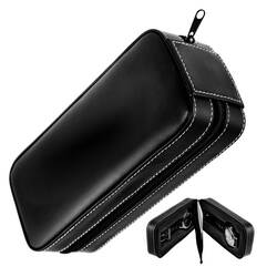 Watch travel case watch pouch watch box 2 Slot black...