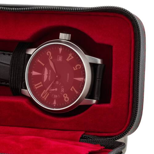 Watch Box Case Travel Red Velvet For Auto & 2