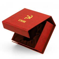 Molnija Taschenuhrbox USSR Box Casket For Pocket Watch...