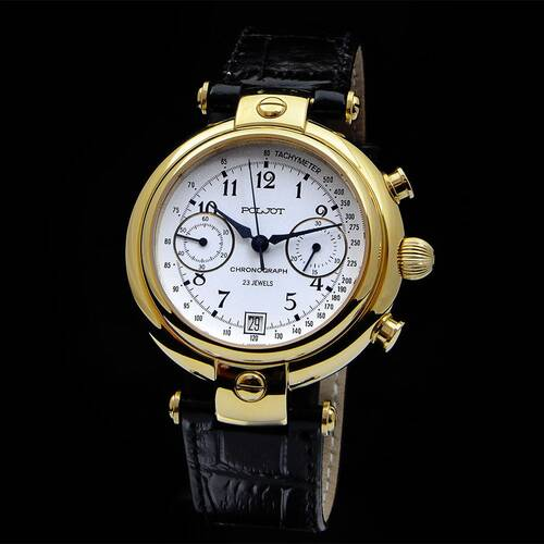 Poljot Basilika Chronograph 3133 Russian Analog Watch Wa